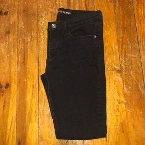 Women's Black Express Jeans Short size 6